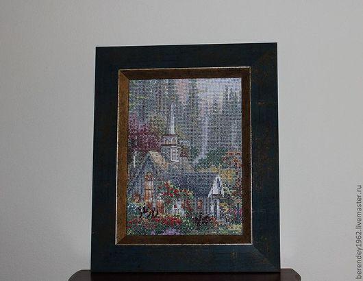 Пейзаж ручной работы. Ярмарка Мастеров - ручная работа. Купить Картина вышитая крестиком. Handmade. Вышивка крестом, картина в подарок