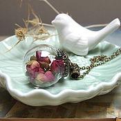 Украшения handmade. Livemaster - original item Transparent crystal Sphere Ball with Roses Real Flowers, Eco Jewelry. Handmade.