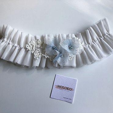 Свадебный салон ручной работы. Ярмарка Мастеров - ручная работа Свадебная подвязка «Виола». Handmade.