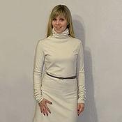 """Одежда ручной работы. Ярмарка Мастеров - ручная работа Трикотажное платье """"Интрига"""". Handmade."""