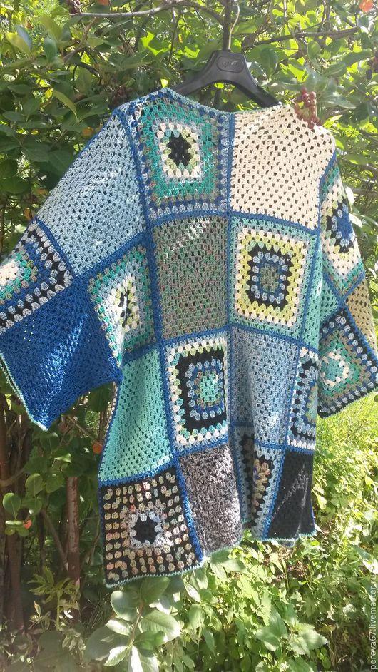 Кофты и свитера ручной работы. Ярмарка Мастеров - ручная работа. Купить Туника Бохо женская вязаная Бабушкин квадрат. Handmade.