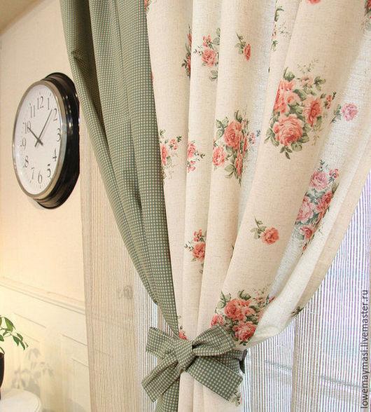Текстиль, ковры ручной работы. Ярмарка Мастеров - ручная работа. Купить Шторы в стиле Прованс из  хлопка и льна. Handmade. Белый