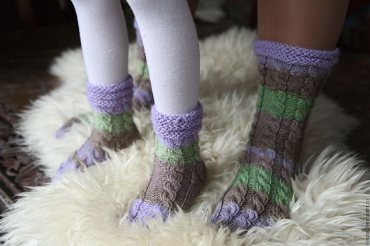 Iris D`or Носки женские вязаные. Носки детские вязаные. Носки ручной работы