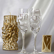 Свадебный салон handmade. Livemaster - original item Glasses for their Golden Wedding - 50 years together !. Handmade.