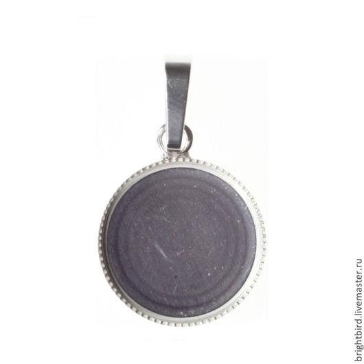 Для украшений ручной работы. Ярмарка Мастеров - ручная работа. Купить Подвеска серебро 925 круг 15 мм для Сваровски Crystal Rocks. Handmade.