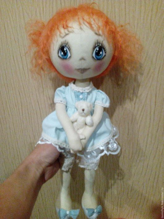 """Купить Кукла """"Ксюша"""", ручная работа - бежевый, кукла ручной работы, кукла в подарок, кукла"""