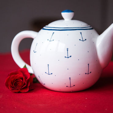 Tableware handmade. Livemaster - original item Kettle-sailor! Ceramics, handmade. Handmade.