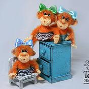Куклы и игрушки handmade. Livemaster - original item Monkey red. Handmade.
