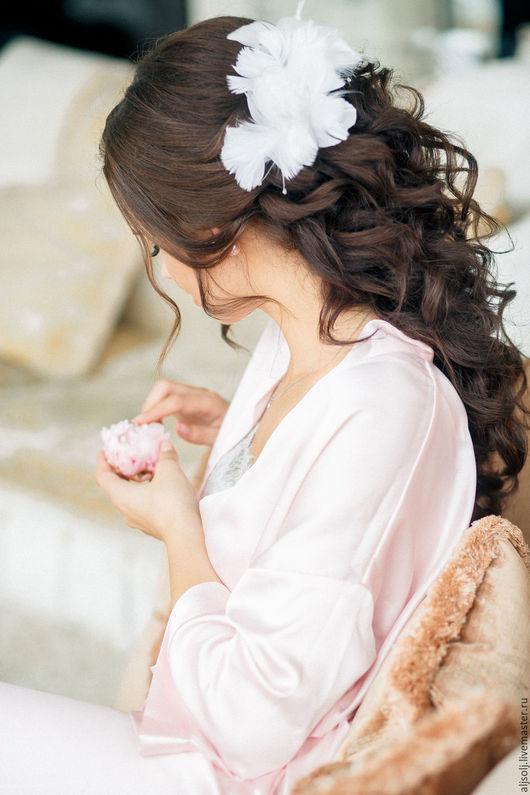 Свадебные аксессуары ручной работы. Ярмарка Мастеров - ручная работа. Купить заколки для невесты. Handmade. Белый, украшения для прически, лебедь