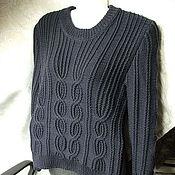Одежда ручной работы. Ярмарка Мастеров - ручная работа Черничный пуловер. Handmade.