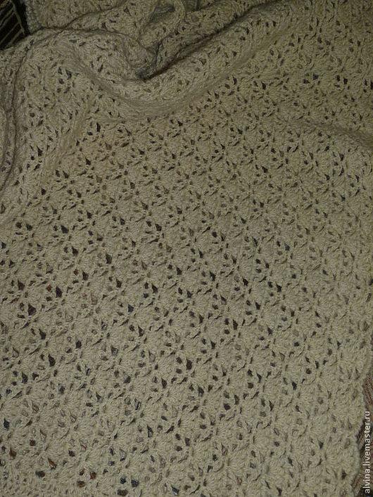 Текстиль, ковры ручной работы. Ярмарка Мастеров - ручная работа. Купить Плед-одеяло, натуральная овечья шерсть ,неокрашенная ,Экосерия. Handmade.