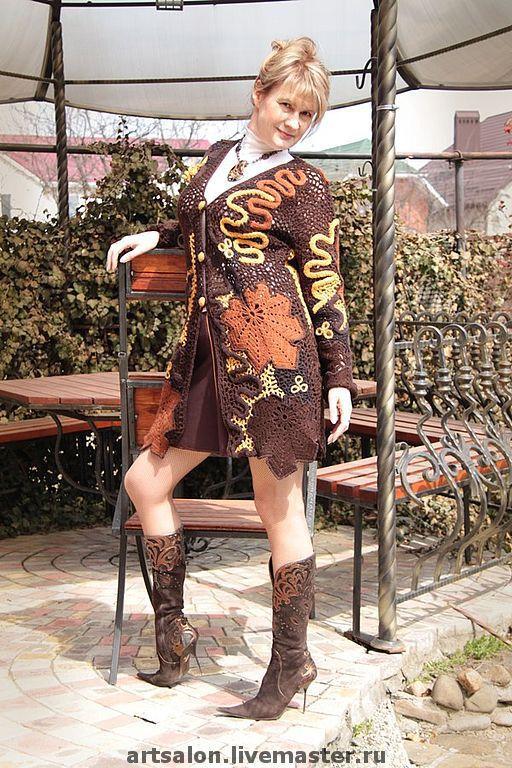 """Кофты и свитера ручной работы. Ярмарка Мастеров - ручная работа. Купить Кардиган """"Стильная штучка"""". Handmade. Вязанный кардиган"""