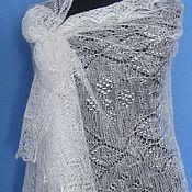 Подарки к праздникам handmade. Livemaster - original item 241 downy tippet fishnet white personalized gifts. Handmade.
