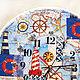 """Часы для дома ручной работы. Часы """"Морское путешествие"""". Майя Валит. Интернет-магазин Ярмарка Мастеров. Часы настенные"""