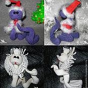 Куклы и игрушки ручной работы. Ярмарка Мастеров - ручная работа Змейка - символ  2013 года. Handmade.