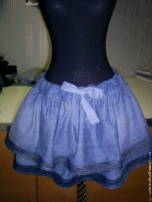 """Юбки ручной работы. Ярмарка Мастеров - ручная работа. Купить Джинсовая юбка """"Ламбада"""". Handmade. Синий, джинсовая, готовые джинсы"""