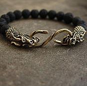 Украшения handmade. Livemaster - original item Bracelet Dragon of lava and bronze. Handmade.