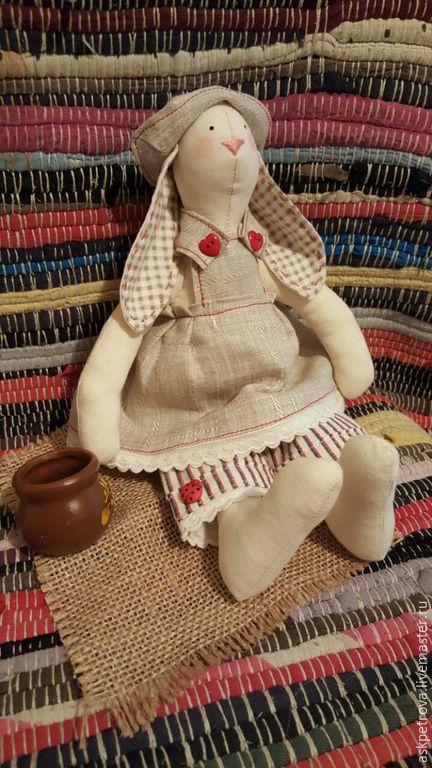 """Куклы Тильды ручной работы. Ярмарка Мастеров - ручная работа. Купить Кролик Тильда """"Крошка Молли"""". Handmade. Бежевый"""