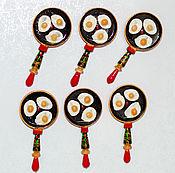 Сувениры и подарки handmade. Livemaster - original item Pan magnet. Handmade.
