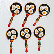 Magnets handmade. Livemaster - original item Pan magnet. Handmade.