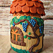 Посуда handmade. Livemaster - original item A house for fairies decor polymer clay. Handmade.