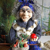 Куклы и игрушки handmade. Livemaster - original item BABA YAGA felt. Handmade.