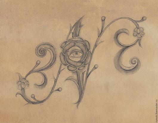 """Символизм ручной работы. Ярмарка Мастеров - ручная работа. Купить буква """"N"""". Handmade. Темно-серый, буква"""