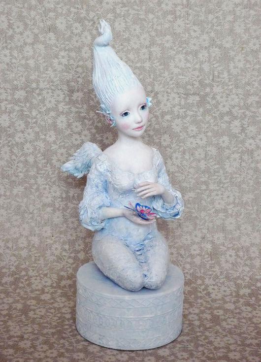 Коллекционные куклы ручной работы. Ярмарка Мастеров - ручная работа. Купить Бабочка. Handmade. Белый, чудо, текстиль
