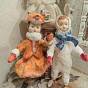 Куклы и игрушки ручной работы. Ярмарка Мастеров - ручная работа Ватные игрушки (винтажный стиль). Handmade.