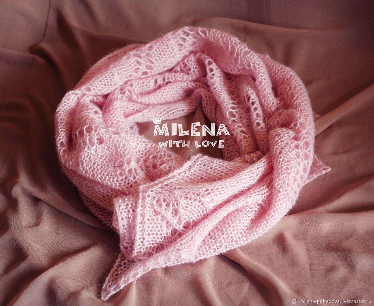 Chales, estolas manualidades. Livemaster - hecho a mano. Comprar Knitted stole Pink Pastille. HandmadeMohair, buy tippet