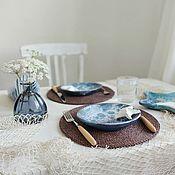 Для дома и интерьера handmade. Livemaster - original item Raffia serving napkins set of 2 pieces. Handmade.