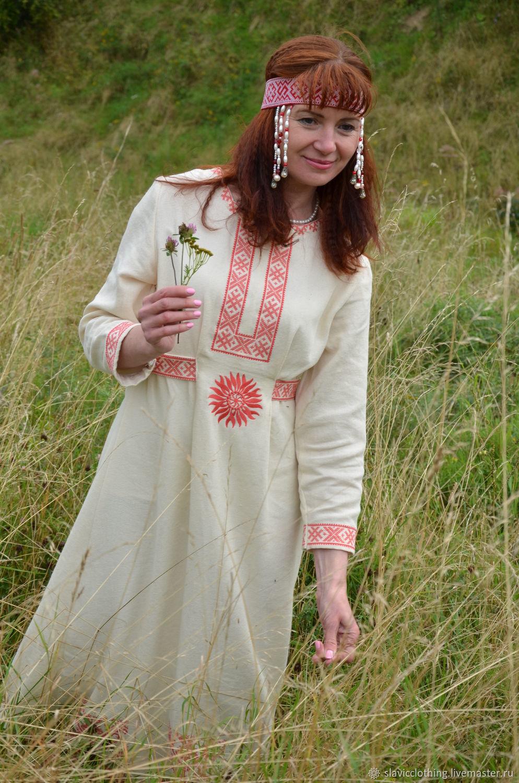 Женская славянская рубаха своими руками 21