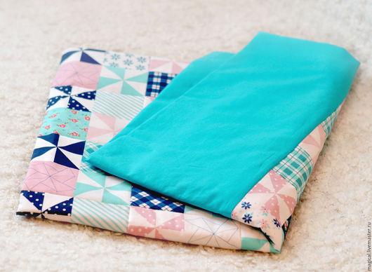 """Детская ручной работы. Ярмарка Мастеров - ручная работа. Купить Одеяло-покрывало """"Синяя ночь"""". Handmade. Тёмно-бирюзовый, для малышей"""