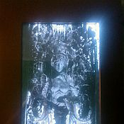 """Для дома и интерьера ручной работы. Ярмарка Мастеров - ручная работа Зеркало картина """"Дарохранительница"""". Handmade."""