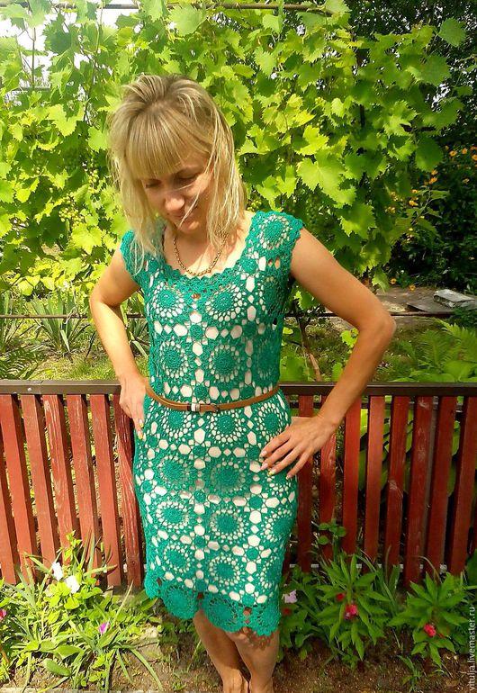 """Платья ручной работы. Ярмарка Мастеров - ручная работа. Купить Платье """"Изумруд"""". Handmade. Зеленый, платье коктейльное, платье вечернее"""