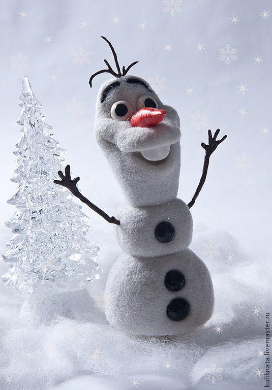 Олаф снеговик своими руками из снега