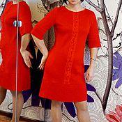 Одежда ручной работы. Ярмарка Мастеров - ручная работа Платье с плиссе трикотажное. Handmade.