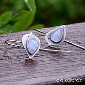 Украшения handmade. Livemaster - original item Silver Bird Earrings, Moonstone. Handmade.