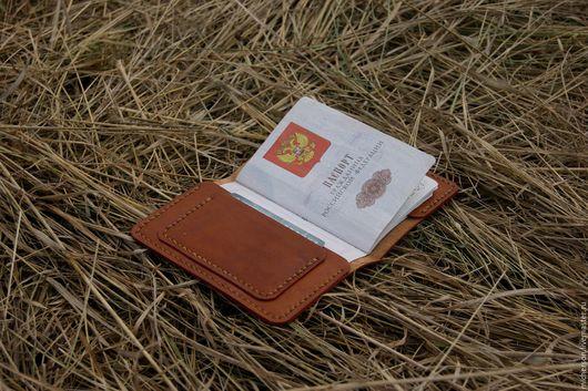 Обложки ручной работы. Ярмарка Мастеров - ручная работа. Купить Обложка для паспорта #2. Handmade. Коричневый, обложка, аксессуары