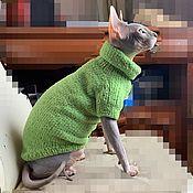 Одежда для питомцев ручной работы. Ярмарка Мастеров - ручная работа Плюшевый свитер для кошки(кота). Handmade.