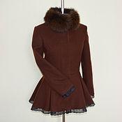 Одежда ручной работы. Ярмарка Мастеров - ручная работа Пальто Баска с мехом. Handmade.