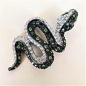 Винтаж handmade. Livemaster - original item Snake Brooch Kanneth Jay Lane Usa. Handmade.