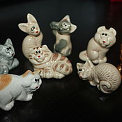 """Для дома и интерьера ручной работы. Ярмарка Мастеров - ручная работа Статуэтка """"Кошки и котята"""". Handmade."""