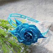 """Украшения ручной работы. Ярмарка Мастеров - ручная работа Ободок """"Римма"""". Роза. Handmade."""