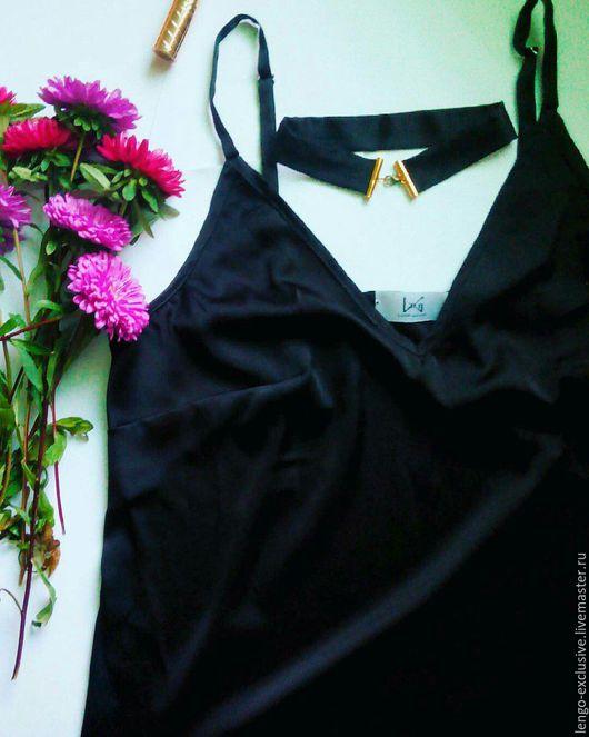 черный однотонный чокер женский чокер ручной работы бельевой стиль одежда ручной работы
