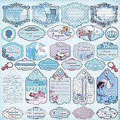Материалы для творчества handmade. Livemaster - original item Paper for scrapbooking, unilateral 30h30h cm. Handmade.