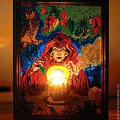 """Картины и панно ручной работы. Ярмарка Мастеров - ручная работа Витраж """"Зелье Самайна"""". Handmade."""