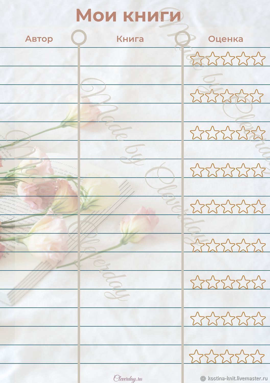 Шаблоны страницы для планеров, ежедневников, Органайзеры, Ярославль,  Фото №1