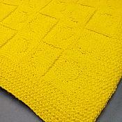 Для дома и интерьера ручной работы. Ярмарка Мастеров - ручная работа Желтый плед в горошек. Handmade.
