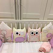 Совушки бортики в кроватку для новорожденных своими руками 24